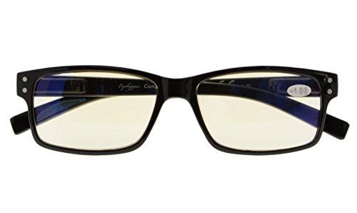 jaune Resistant bleus Verre Protection ordinateur 032 Eyekepper Clair verres 2 lunette Noir anti UV 00 de rayures Anti Vue Lunettes eblouissement rayons xwvqgAZ