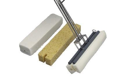 Dense Ether Foam Mop Head, Irradiated - PowerHead Foam Mops, Micronova