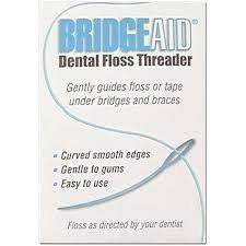 BridgeAid Dental Floss Threader Bottle 150, 1 Bottle (Best Floss For Braces)