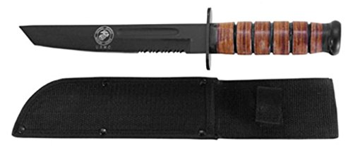 New Full Size 12 Inch Usmc Fighting Knife Tanto Point with Sheath