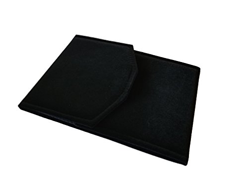 "6""W x 8 1/4""H Black Velvet Jewelry Folder Pearl Necklace Organizer Storage Display Gift Valentine"