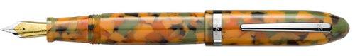Laban Mento Terrazzo Pumpkin Broad Point Fountain Pen - LRN-F988TK-B by LABAN