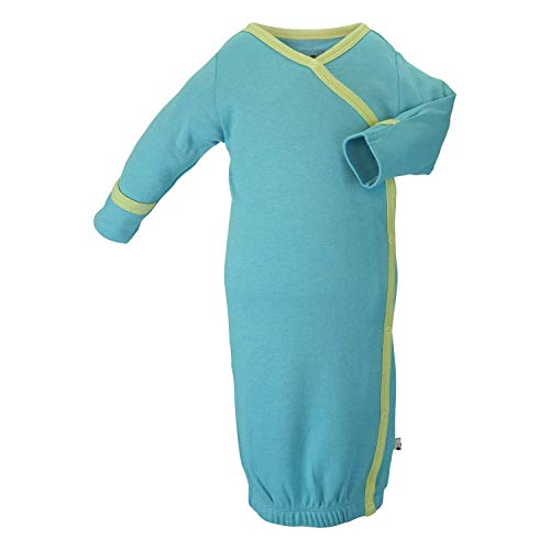 - Babysoy Eco Essential Kimono Bundler - Long Sleeve Baby Sleeper Gown (6-9 Months, Ocean)