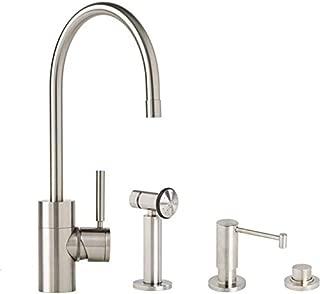 product image for Waterstone 3800-3-SC Parche Kitchen Faucet 3pc. Suite Satin Chrome