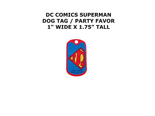 Kingdom Come Superman Costume (Superman DC Comics Cartoon Theme Logo Dog Tag Keychain Party Favor)
