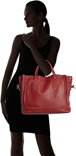 italian elegant Rosso soft handbag bag in Cm in Woman's CTM tote Italy made 37x30x15 genuine leather Red Uxq4wn85