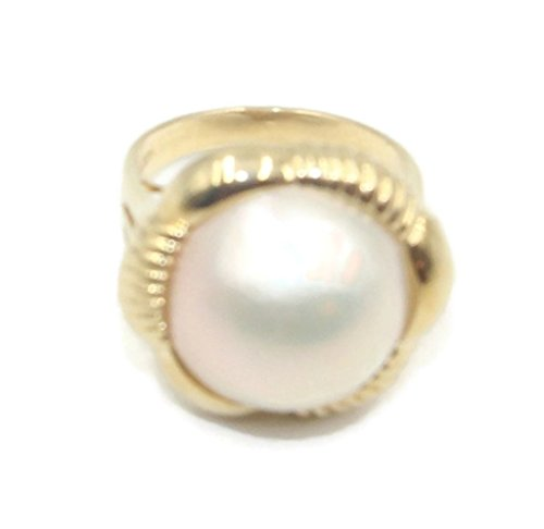 Mabe Pearl White Ring 14k Yellow Gold,Size 7 - Ring Pearl Mabe Gold