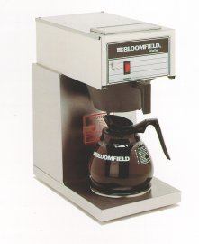 Bloomfield 8542-D1 Koffee King Coffee Brewer, Low Profile, Pour-Over Option, Single, 1-Warmer, Stainless Steel, 14'' Depth, 8 3/4'' Width, 16 7/8'' Height