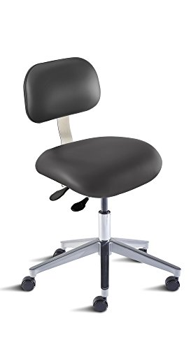 BioFit Engineered Products ETA-L-RC-C-AV126 Eton Series Desk Height Chair with Aluminum Base