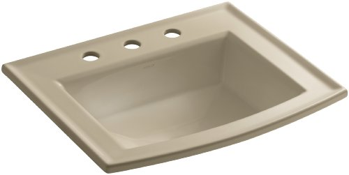 Mexican Sand Vessels (KOHLER K-2356-8-33 Archer Self-Rimming Bathroom Sink with 8-Inch Centers, Mexican Sand)