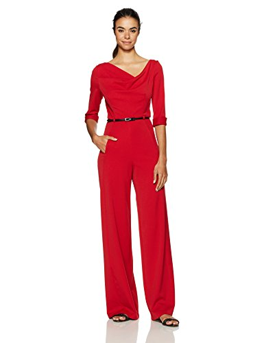 Black Halo Womens Sleeve Jumpsuit