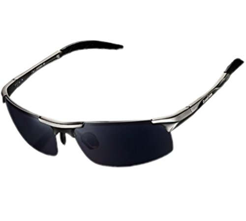 ATTCL Fashion Metal Frame Driving Polarized Night Vision Sunglasses for Men