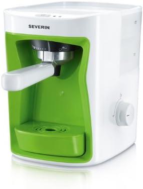 Severin KA 5991 - Cafetera monodosis, 1250 W, 1 l, color blanco y verde: Amazon.es: Hogar