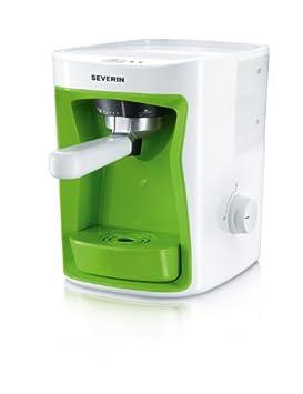 Severin KA 5991 - Cafetera monodosis, 1250 W, 1 l, color blanco y verde