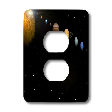3dRose LLC lsp_40282_6 Alignment Of Our Solar System, 2 Plug Outlet Cover