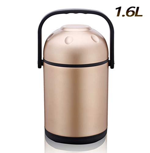 MAI&BAO Acero Inoxidable Lunch Box contenedora de Alimentos, Oro, 1.6L, 6-8 Horas de Calor