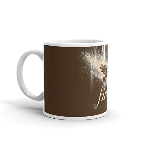 (Firefly Silhouette. 11 Oz Fine Ceramic Mug With Flawless Glaze Finish. 11 Oz Ceramic Coffee Mugs With C-shape Handle, Comfortable To Hold)