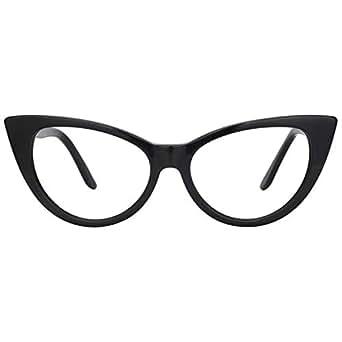 33e3bbbb40 Amazon.com  Zeelool Acetate Vintage Cat Eye Glasses for Women ...