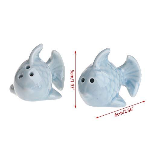 - Fiesta 1 Pair Fish Ceramic Salt Pepper Shakers Set Seasoning Bottle Wedding Party Gift
