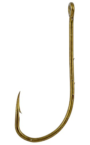 South Bend Live Bait Hook (Matzuo Baitholder Offset Straight Eye Hook (Pack of 25), Bronze, 8)