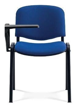 KARISMA - ISO ECOPELLE D/2 + TAV., Sedia In Plastica Ufficio / Scuola Più Tavoletta Ribaltina Scrittoio, Blu Eurotekna