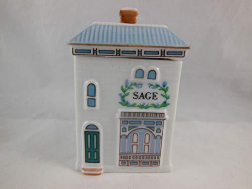 Lenox 'Spice Village' Porcelain Victorian House Spice Jar - Sage