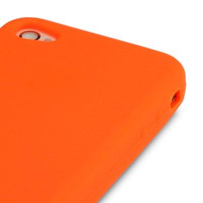 iPhone 4/iPhone 4G Fluro Skin Schutzhülle aus Silikon–orange