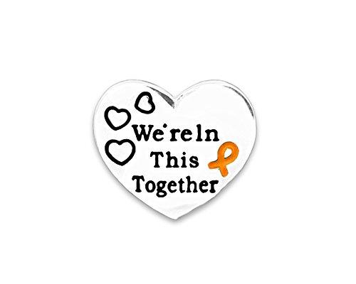 Leukemia Awareness Heart Ribbon Pin in Bag (1 Pin - Retail)