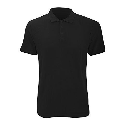 6280 Courtes Noir Anvil Homme Manches Uni Polo Iwxq4d