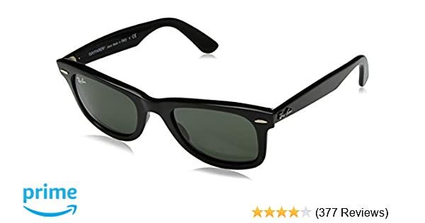 9e2609b06d Amazon.com  Ray-Ban Original Wayfarer Sunglasses (RB2140 50) Black  Matte Green Acetate - Non-Polarized - 50mm  Clothing