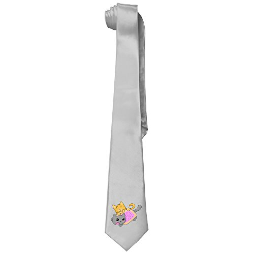 Nyan Cat Costume (Ggift Nyan Cat Vs Semi Normal Cat Mens Fashion Business Solid Necktie Neck Tie)