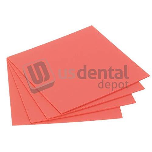 KEYSTONE - Pink Base Plate Material .100in (2.5mm) thickness - 625pk - K# 9616200# 7000017 [Pure high impact styrene - 5 x 5 inch sheets Lamina Termo Formado termoplas 034-1570045 Us Dental Depot