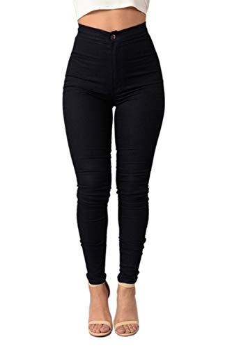 Scappando Magro Vosujotis Black Adatta Vita Le Alte Jeans Pantaloni Donne Pnats XYPFgYU