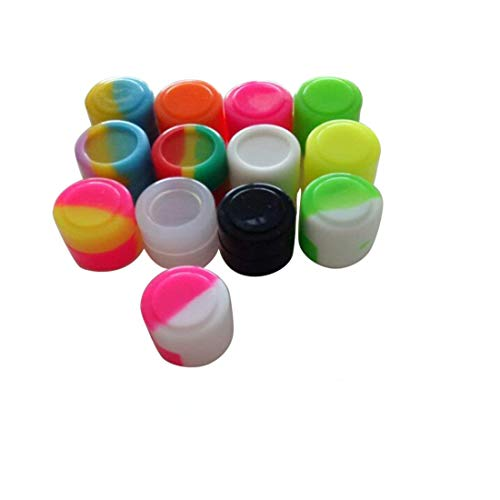 Gentcy Silicone 2ml 500pcs Containers Silicone Storage Jar Seals Oil Wax Concentrate 13color by Gentcy Silicone (Image #1)