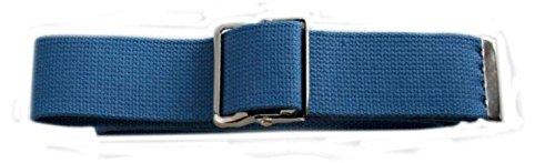 "Cotton Gait Belt with Classic Metal Buckle, 60"" , Blue"