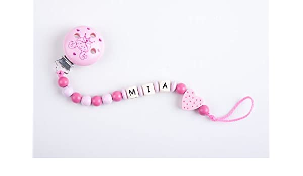 Perle infantil - Cadena para chupete con nombres Mia ...