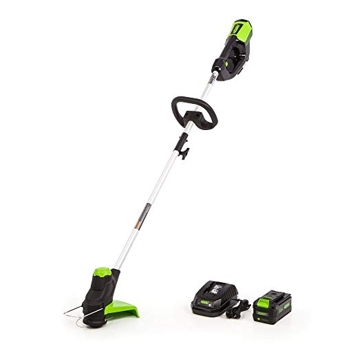 Greenworks 12-Inch 40V Cordless String Trimmer, 3AH Battery and Charger Included, ST-120