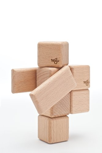 52 Piece Tegu Original Magnetic Wooden Block Set, Natural by Tegu (Image #1)