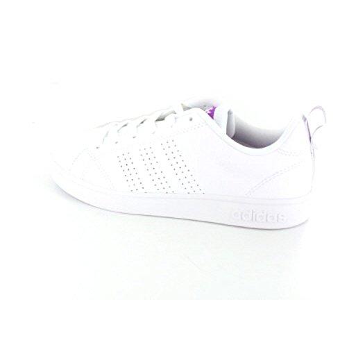 adidas Vs Advantage CL, Zapatillas de Deporte Para Mujer, Blanco (Ftwbla/Ftwbla/Pursho 000), 44 EU