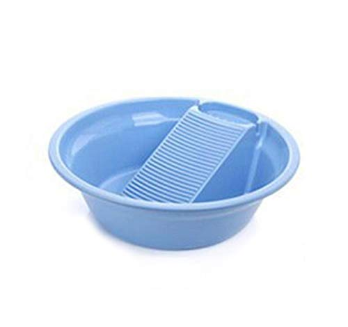 Wash Basin Plastic Laundry Basin with Seesaw Thickening Baby Underwear Plastic Laundry Basin Home Bathroom Cleaning Supplies,Blue S