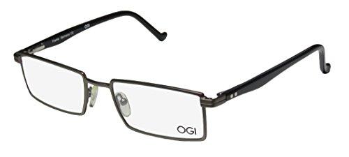 [Ogi 9603 Mens Ophthalmic Premium Quality Rectangular Full-rim Flexible Hinges Eyeglasses/Spectacles (52-19-138, Khaki /] (Cheap Indiana Jones Costumes)