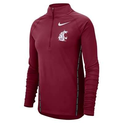 (Nike Washington State Cougars Dri-Fit Women's Half-Zip Core Jacket (Medium))