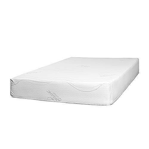 Best 2 Rest 10 inch Natural Latex Foam Mattress King with Organic Cotton Cover – 10 Year Warranty - CertiPUR-US Certified – Made in USA