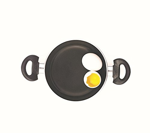 Essenso Bronx Nonstick Egg Pan 7.8 Inch, PTFE Free, Dishwasher Safe, Black