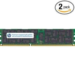 (HP 16GB(2 X 8GB) Kit 8GB 2RX4 PC3-10600R 1333MHz DDR3 SDRAM Memory Module For Proliant DL320 G6 DL360 G6 DL360 G7 DL370 G6 DL380 G6)
