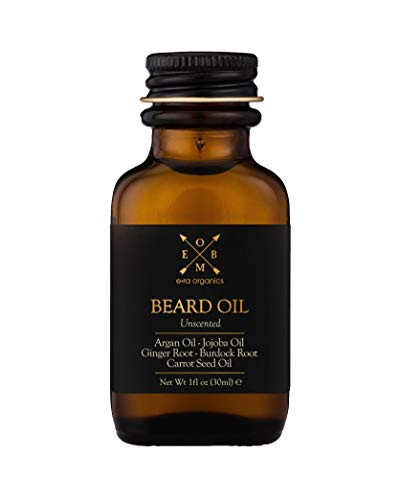 Organic Beard Oil & Conditioner For Men – Extra Hydrating & Nourishing Unscented Beard Oil for Beard Growth, Healthier Beard Hair & Softer Skin Care – Prevent Dandruff & Tame Frizzy Hair 100% Natural