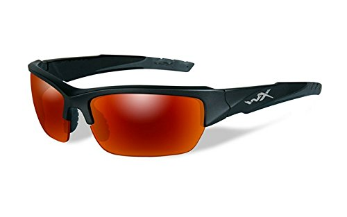 Prescription Lenses X Wiley (Wiley X WX Valor Glasses Polarized Crimson Mirror Smoke Gray Lens Black 2 Tone Frame)