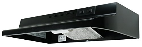 Air King AD1306 Advantage Ductless Under Cabinet Range Hood with 2-Speed Blower, 30-Inch Wide, Black - Hood King Air Vent