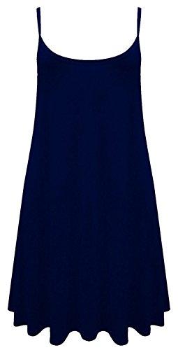 Camiseta o mini vestido sin mangas para mujer, tallas de la 36 a la 54 azul marino