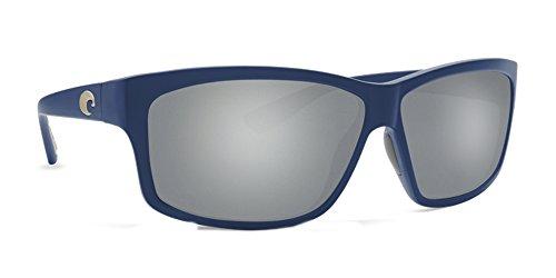 Costa Del Mar UT177OSGP Cut Unisex Blue Frame Gray Silver Mirror Lens Wrap - Sale For Del Costa Mar